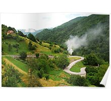 Road in Carnic Alps Near Paularo Poster