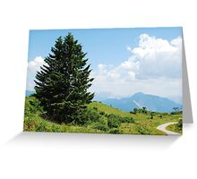 Landscape on Monte Zoncolan Greeting Card