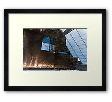 Copper, Glass and Steel Geometry - Fabulous Modern Architecture in London, UK - Horizontal  Framed Print