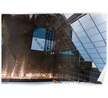 Copper, Glass and Steel Geometry - Fabulous Modern Architecture in London, UK - Horizontal  Poster