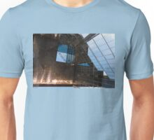 Copper, Glass and Steel Geometry - Fabulous Modern Architecture in London, UK - Horizontal  Unisex T-Shirt