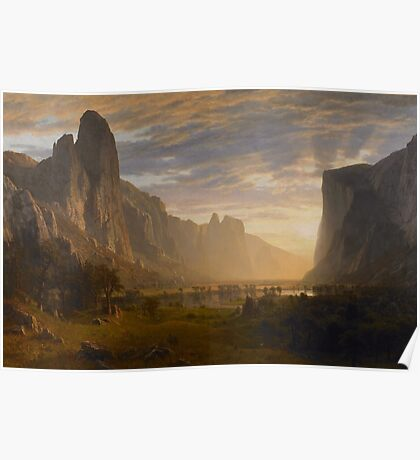 Albert Bierstadt - Looking Down Yosemite Valley, California American Landscape Poster