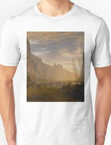 Albert Bierstadt - Looking Down Yosemite Valley, California American Landscape Unisex T-Shirt