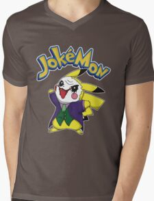 Pokemon Pikachu Jokemon Mens V-Neck T-Shirt