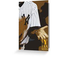 Yankees baseball team Greeting Card