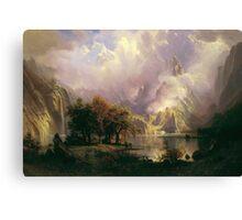 Albert Bierstadt - Rocky Mountain Landscape 1870 American Landscape Canvas Print