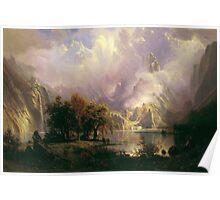 Albert Bierstadt - Rocky Mountain Landscape 1870 American Landscape Poster