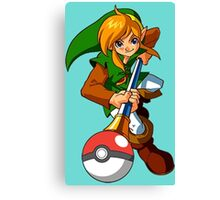 Zelda Pokemon Canvas Print