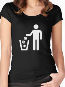 Technology Trash Women's Fitted Scoop T-Shirt