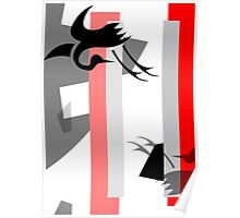 Escape From Death - Geometric Abstract Design by Jenny Meehan Poster