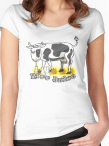 Moo Juice Women's Fitted Scoop T-Shirt