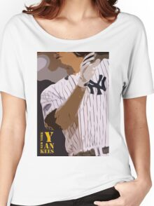 Baseball, New York Yankees, and bat Women's Relaxed Fit T-Shirt
