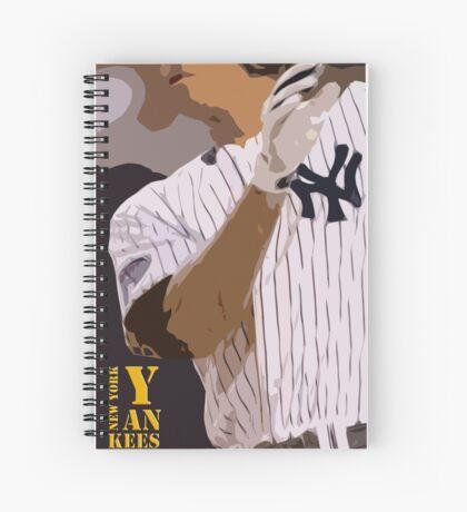 Baseball, New York Yankees, and bat Spiral Notebook