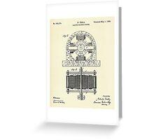 Electro Magnetic Motor-1888 Greeting Card