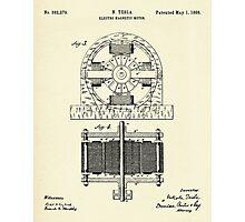 Electro Magnetic Motor-1888 Photographic Print