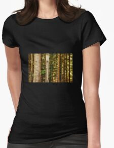 Pine Tree Trunks Womens Fitted T-Shirt
