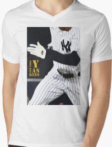 New York Yankees, run! Mens V-Neck T-Shirt