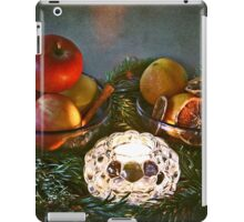 Christmas:a candle, fir branches spices and fruits iPad Case/Skin