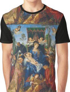 Albrecht Durer  - Feast of Rose Garlands 1506 Woman Portrait Fashion Graphic T-Shirt