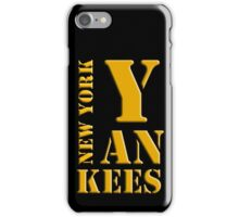 New York Yankees typography iPhone Case/Skin