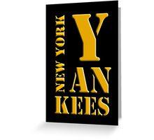 New York Yankees typography Greeting Card