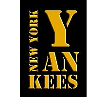 New York Yankees typography Photographic Print
