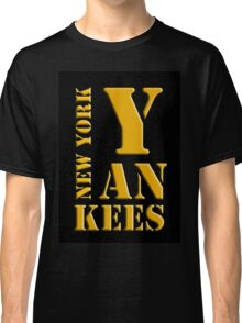 New York Yankees typography Classic T-Shirt