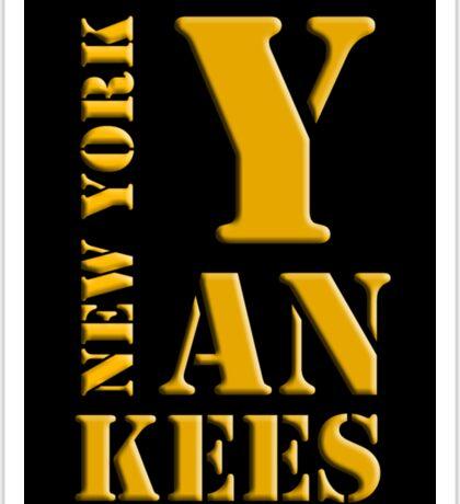 New York Yankees typography Sticker