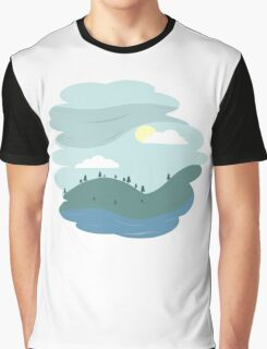 Over the hills Graphic T-Shirt