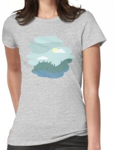 Over the hills Womens Fitted T-Shirt