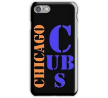 Chicago Cubs Typography iPhone Case/Skin