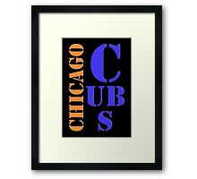 Chicago Cubs Typography Framed Print