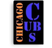 Chicago Cubs Typography Canvas Print