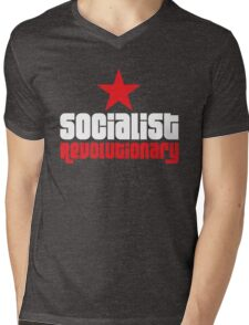 Socialist Revolutionary Red Star Mens V-Neck T-Shirt