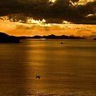 ...sunset over Greek waters .. by John44