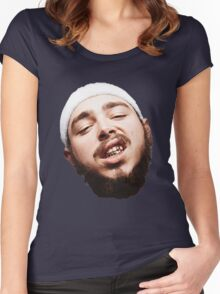 Post Malone - White Iverson Women's Fitted Scoop T-Shirt