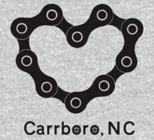 Carrboro Love Chain (black) Kids Tee