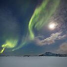 Moonlight and northern lights by Frank Olsen