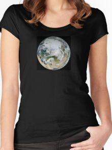 North pole - Space view Women's Fitted Scoop T-Shirt