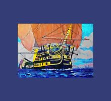 A digital painting of The Victory Leaving Gibraltar Unisex T-Shirt