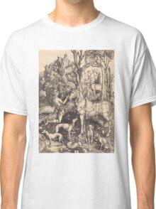 Albrecht Durer  - Saint Eustace  1500-1501 Portrait Fashion Classic T-Shirt
