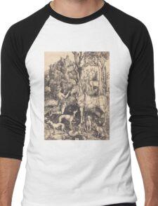 Albrecht Durer  - Saint Eustace  1500-1501 Portrait Fashion Men's Baseball ¾ T-Shirt