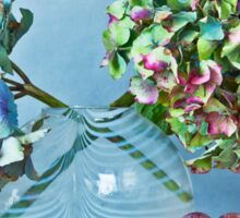 Autumnal still life: grapes and dry hydrangea flowers Sticker