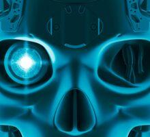 Gamer Skull BLUE TECH Sticker