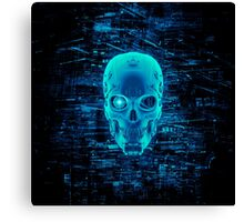 Gamer Skull BLUE TECH Canvas Print