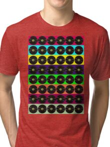 Apple vinyl Tri-blend T-Shirt
