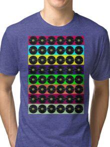 Apple vinyl Tri-blend T-Shirt