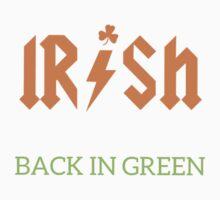 Irish Back In Green ACDC Inspired Kids Tee