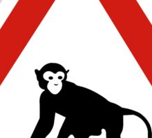 Warning Monkeys, Road Sign, Saudia Arabia Sticker