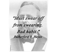 Hayes - Swearing Poster